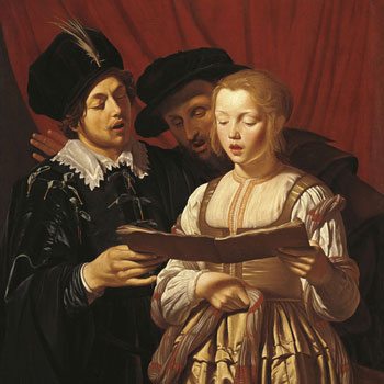 Trois chanteurs, par Adam de Coster, entre 1607 et 1643 © Liechtenstein Museum