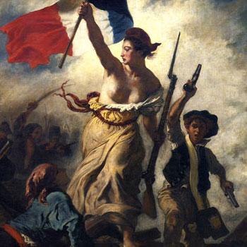 La Liberté guidant le peuple, peinture d'Eugène Delacroix, 1830. Musée du Louvre