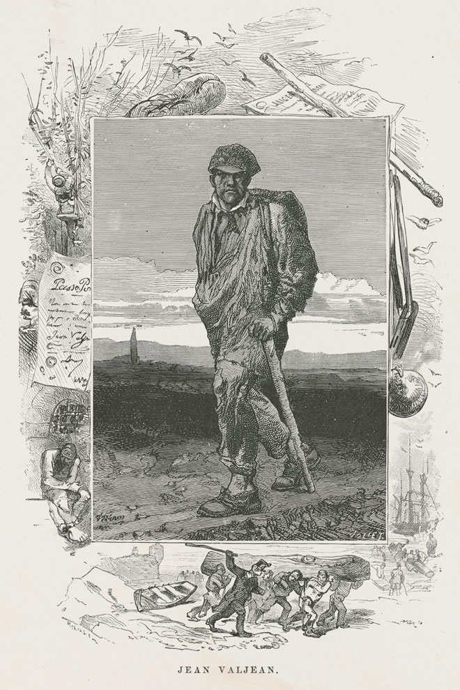 Gustave Brion, Jean Valjean, 1862, Les Misérables © G. Routledge and Sons