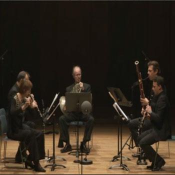 Concert filmé le quintette à vent