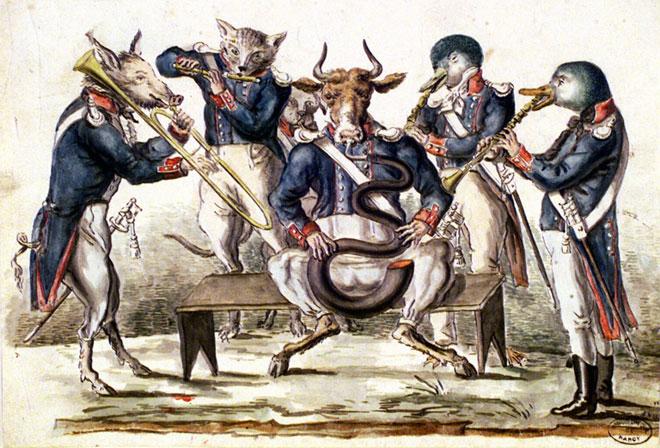 Le Quintette à vent (1820) © Bibliothèque municipale de Nancy