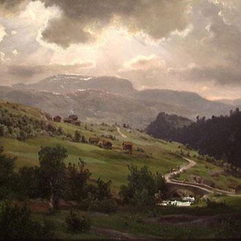 Fra Kviteseid (Norvège), peinture de Johan Fredrik Eckersberg, 1868 © National Gallery, Norvège