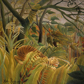 Surpris, par Henri Rousseau (Le-Douanier) © National Gallery of Art Washington
