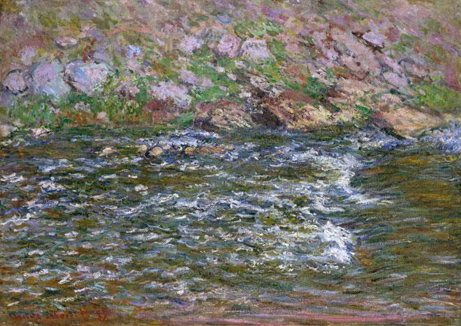 Claude Monet, Rapides sur la Petite Creuse à Fresselines, 1889 © www.metmuseum.org