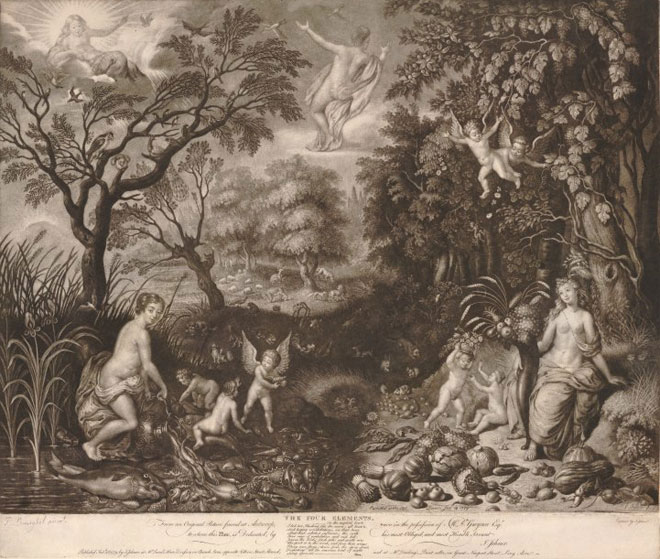 Isaac Jehner, Les quatre elements, 1779 © British Museum