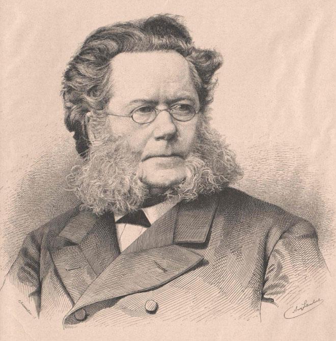 Portrait de Henrik Ibsen © Österreichische Nationalbibliothek