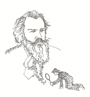 Illustration Sur les traces de Johannes Brahms © Julie Scolbetzine