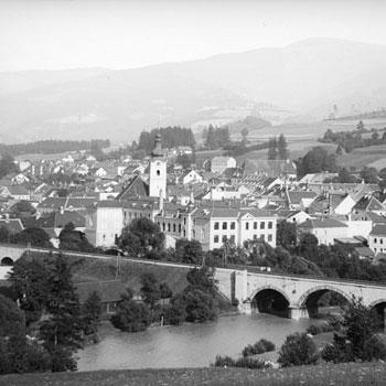Murzzuschlag (Alpes autrichiennes) où séjourna Brahms © Österreichische Nationalbibliothek
