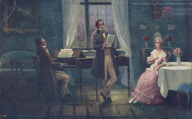 Franz Schubert © Historische Bildpostkarten Universität Osnabrück