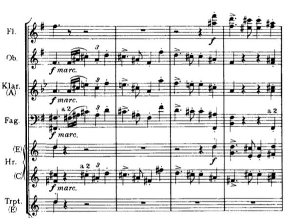 Partition Symphonie n° 4, Johannes Brahms, deuxième thème