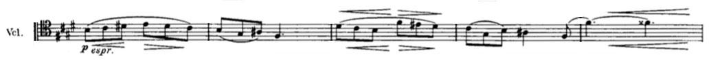 Partition Symphonie n° 4, Johannes Brahms, deuxième mouvement, second thème