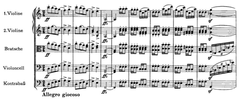 Partition Symphonie n° 4, Johannes Brahms, troisième mouvement, premier thème