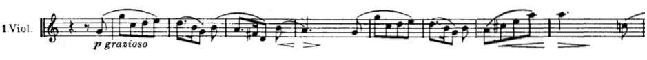 Partition Symphonie n° 4, Johannes Brahms, troisième mouvement, second thème