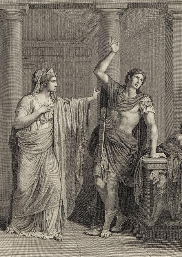 Mithridate, tragédie de Jean Racine, Acte II scène VI, Monime et Xiphares © Gallica-BnF