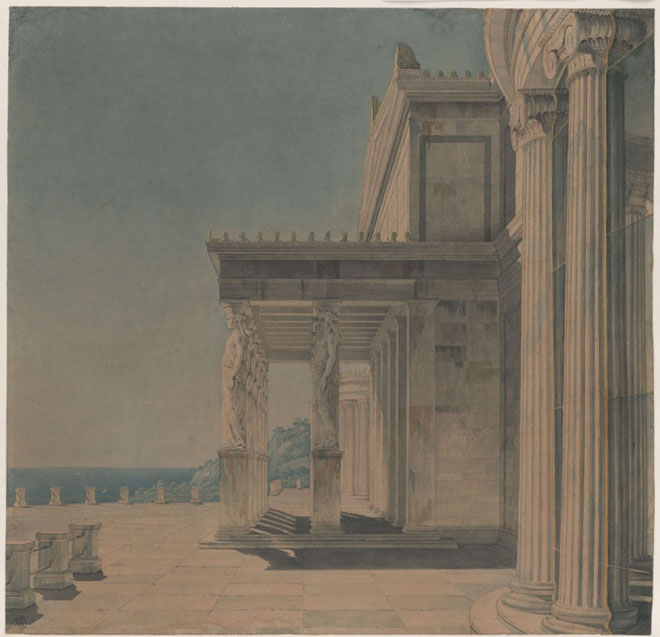 Palais Orianda de Crimée © Kupferstichkabinett, Staatliche Museen zu Berlin