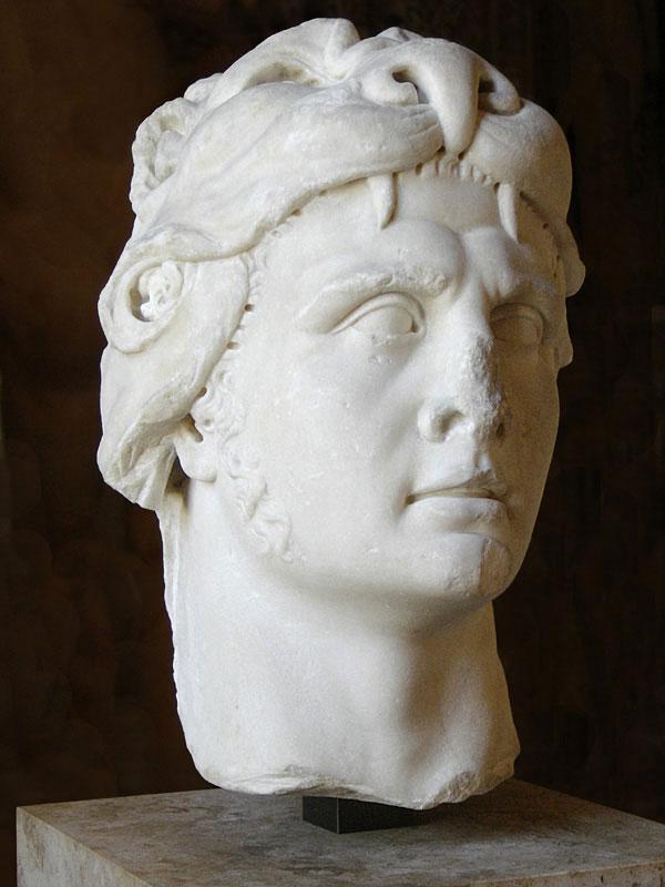 Portrait du roi du Pont Mithridate VI sous les traits d'Heraclès, Marbre, époque romaine imperiale, Ier siècle © Musée du Louvre, Eric Gaba - CC