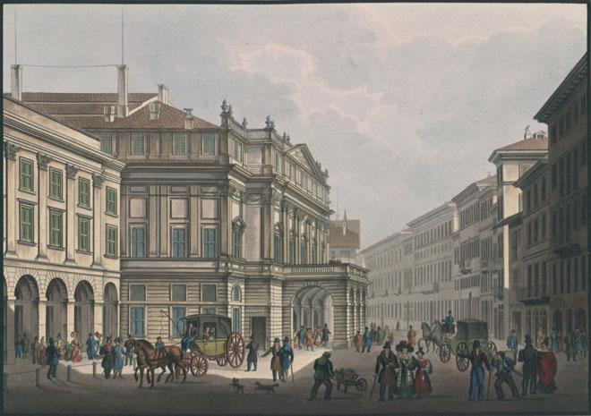 Teatro alla Scala à Milan en 1831 © Österreichische Nationalbibliothek