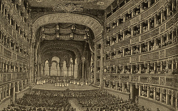 Théâtre San-Carlo de Naples © The New-York Public Library, Digital Collections