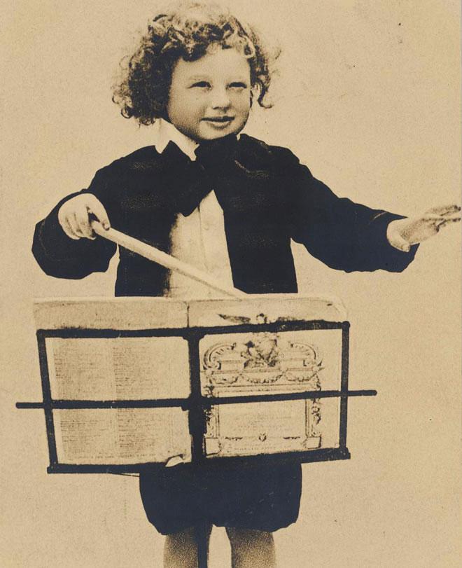 Le petit chef d'orchestre © Historische Bildpostkarten - Universität Osnabrück
