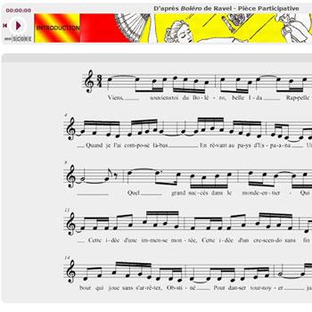 Pièce participative d'après Bolero - Ravel