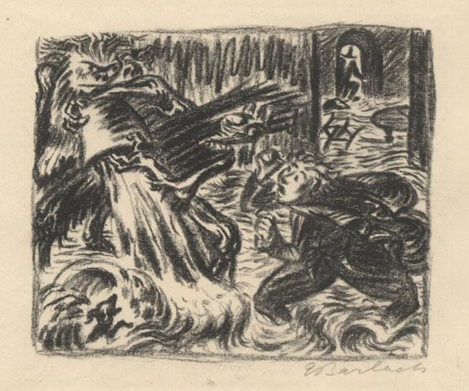 Ernst Barlach, Illustration du poème de Goethe L'Apprenti sorcier, 1924 © Frankfurter Goethe Haus