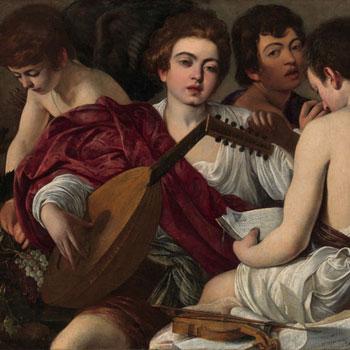 Michelangelo Merisi da Caravaggio, Les musiciens, 1594 © www.metmuseum.org