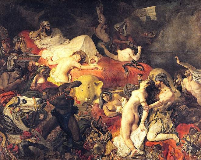 Eugene Delacroix, La Mort de Sardanapale, 1827 © RMN, Musée du Louvre