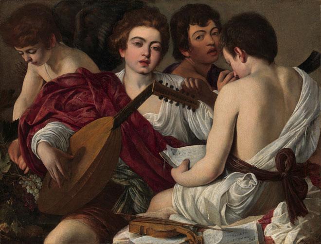 Michelangelo, Merisi da Caravaggio, Les musiciens, 1594 © www.metmuseum.org