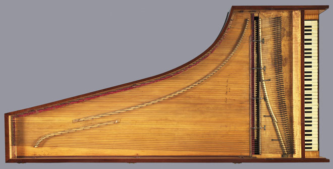 Piano à queue Erard frères, 1802 © Philharmonie de Paris, JM Anglès