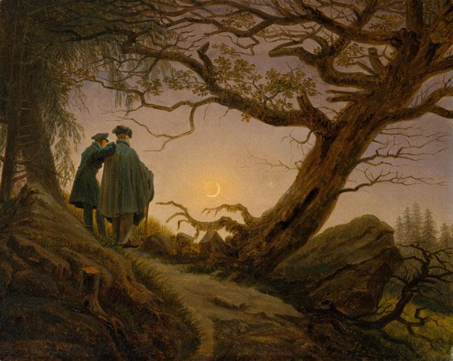 Caspar David Friedrich, Deux hommes contemplant la lune © www.metmuseum.org