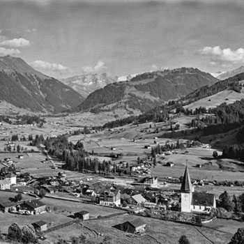 Vue du village de Gessenay (Saanen) 1904 © Swiss National Library