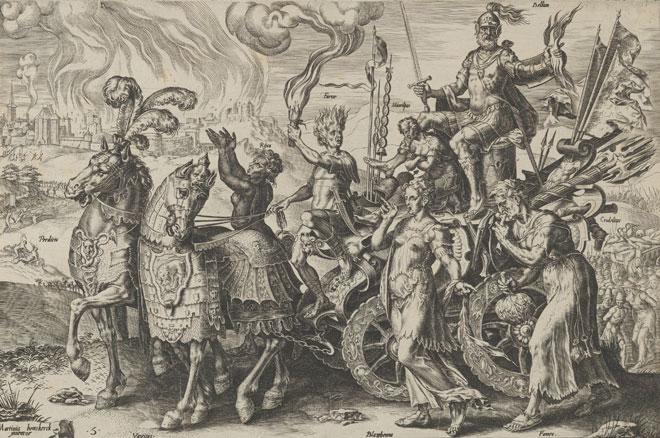 Le triomphe de la guerre, Cornelis Cort, 1564 © www.metmuseum.org