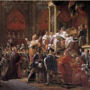 Entrée solennelle de S. M. Charles X, roi de France et de Navarre dans Paris après la cérémonie du Sacre 1825, par C. H. Loeillot-Hartwig © Gallica - BnF