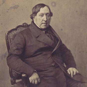 Portrait du compositeur Gioacchino Rossini par Gustave Le Gray © Bnf
