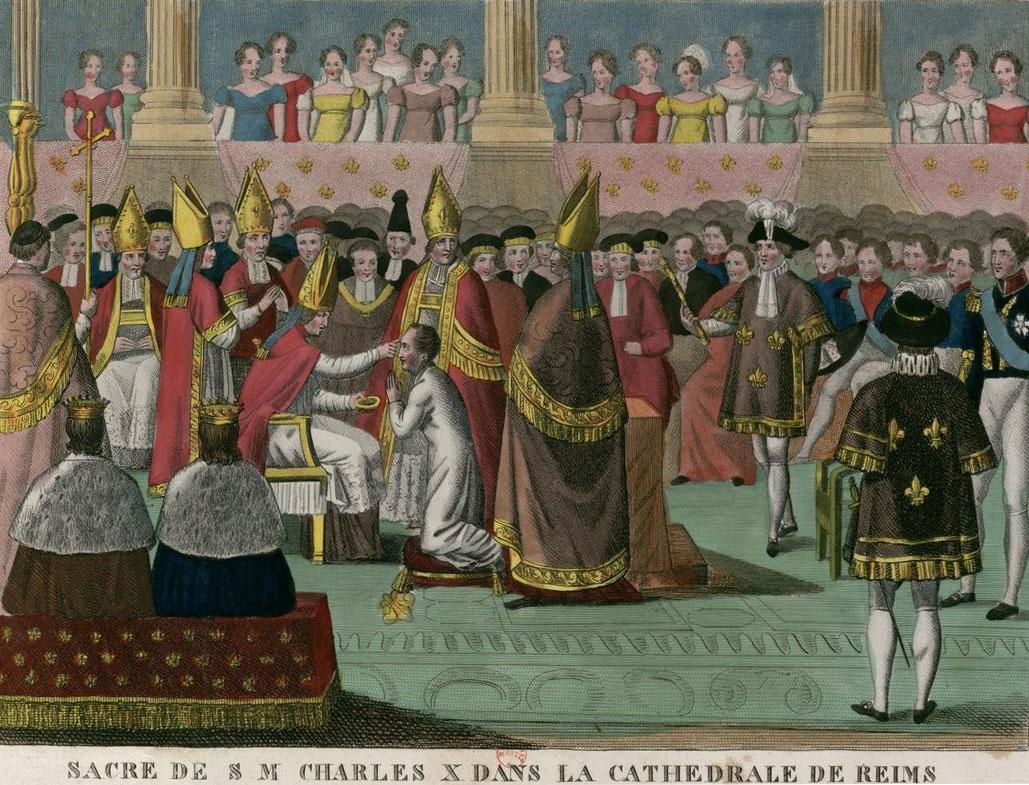 Sacre de Charles X dans la Cathédrale de Reims, le 29 Mai 1825 © Gallica - BnF