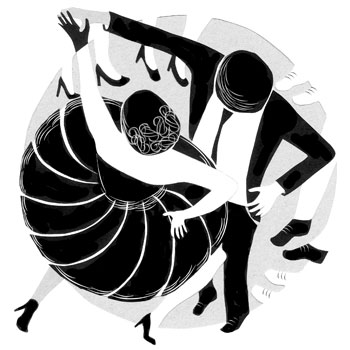 Danses - Illustration Sandrine Kao