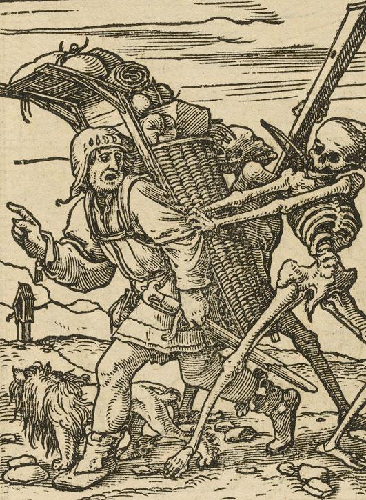 Danse macabre XXXVII, Le Colporteur, Holbein le jeune © PD