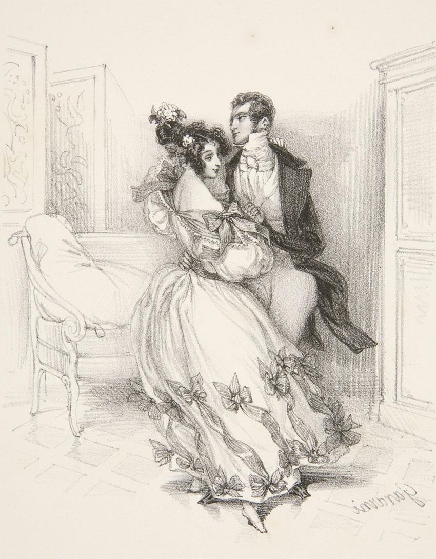 La Valse, Guillaume Sulpice Chevalier dit Gavarni, XIXe siècle © Yale University Art Gallery