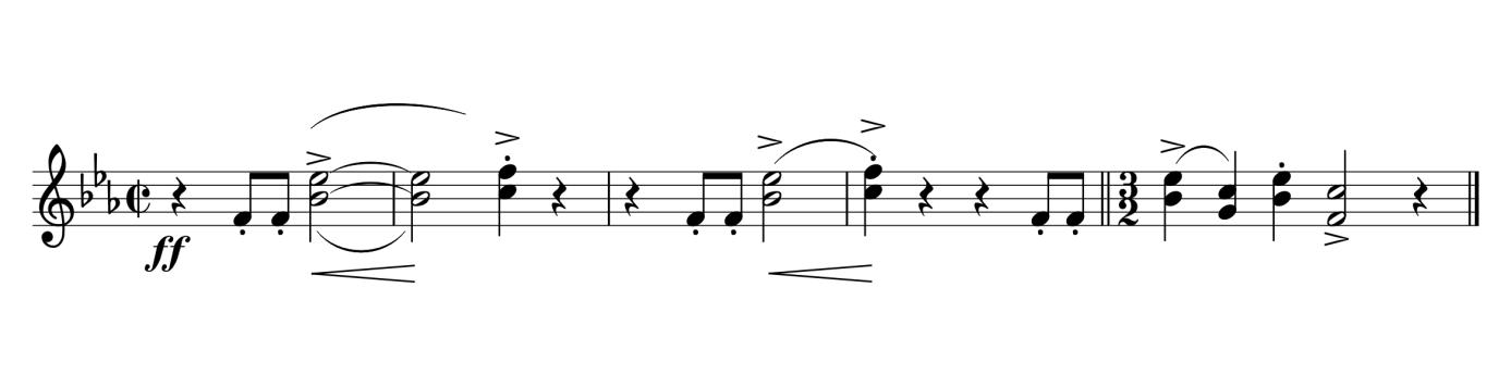 Extrait de la partition Ouverture de Candide par Leonard Bernstein