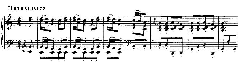 3ème mouvement thème du rondo