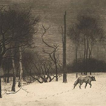 Loup dans la neige, par Félix Bracquemond, 1864 © Metropolitan Museum