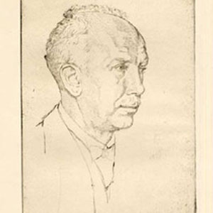 Richard Strauss par Emil Orlik 1916