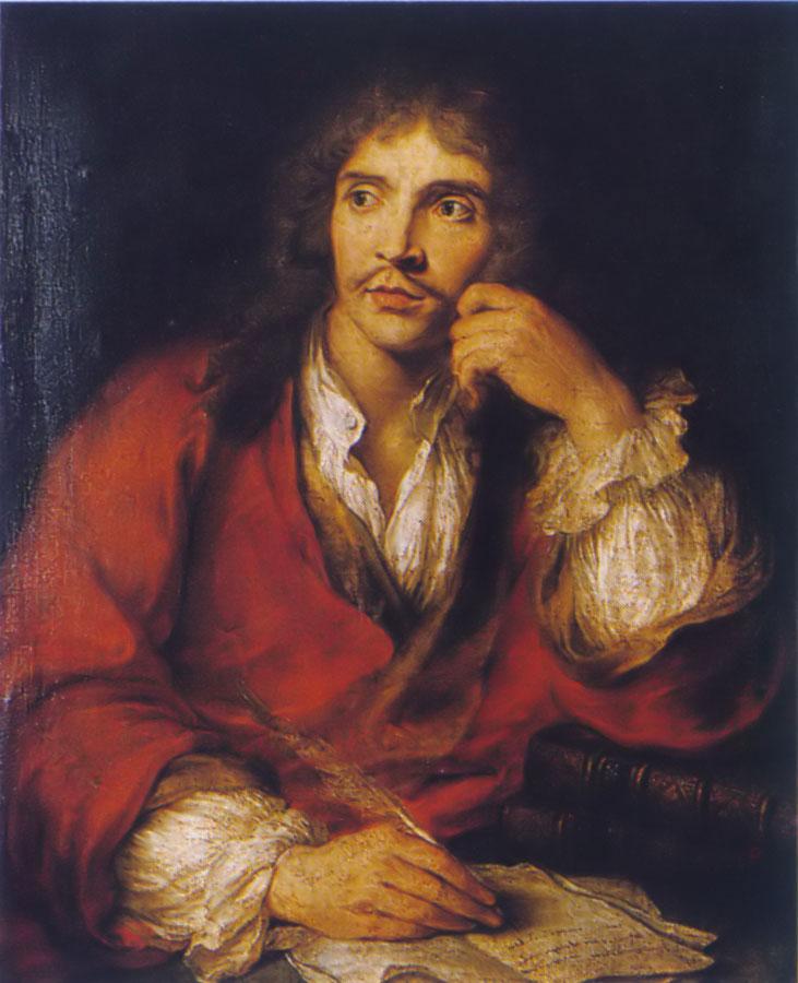 Molière, portrait de Charles-Antoine Coypel © Bibliotheque de la Comédie-Française, Paris
