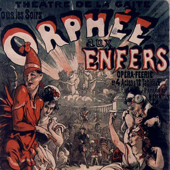 Affiche pour Orphée aux enfers d'Offenbach (Théâtre de la Gaïté) © Gallica BnF