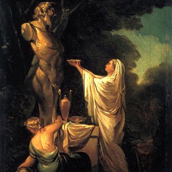Sacrifice à Pan, par Francisco Goya, 1771 © Collection José Gudiol, Barcelone