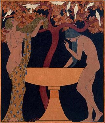 Pierre Louys. Les Chansons de Bilitis 1922 © Georges Barbier