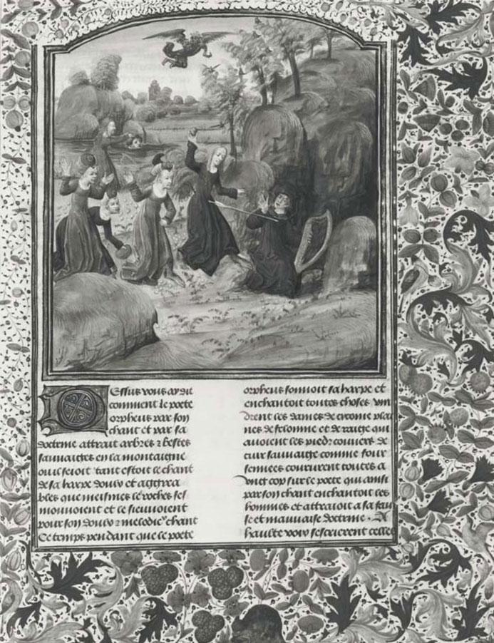 La Mort d'Orphée, Metamorphoses d'Ovide © Gallica BnF