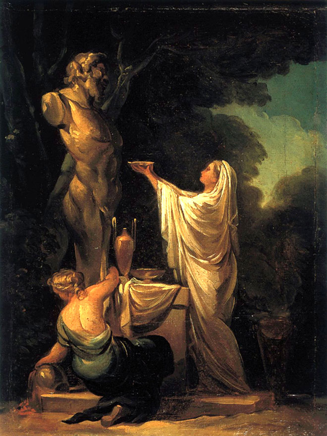 Sacrifice à Pan, par Francisco Goya, 1771 © Collection José Gudiol, Barcelone