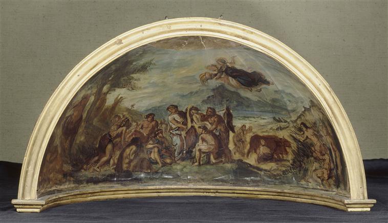 <p>11- Eugène Delacroix, Étude pour <em>Orphée apportant la civilisation aux peuples barbares et leur enseignant les arts et la paix</em> pour la Chambre des députés, Paris, 1838-1847<br/><span>© RMN</span></p>