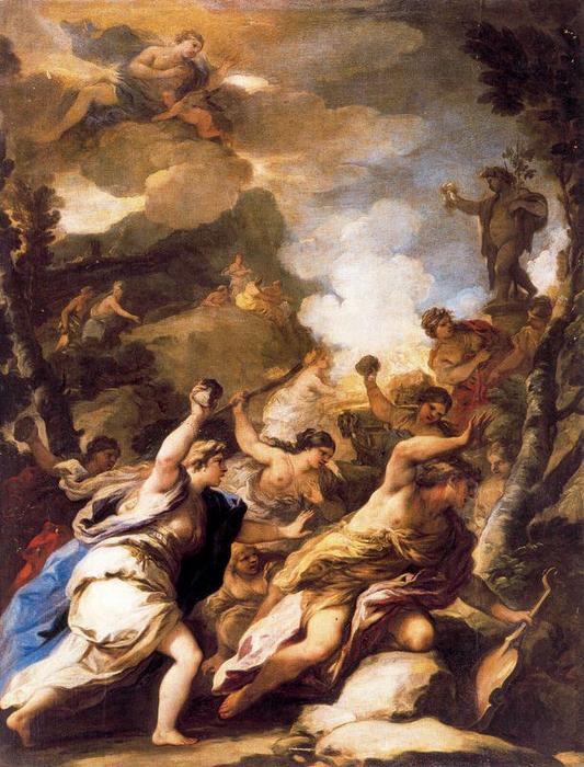 <p>9- Luca Giordano, <em>Orphée et les bacchantes</em>, v. 1700<br/><span> © Museo nacional del Prado</span></p>